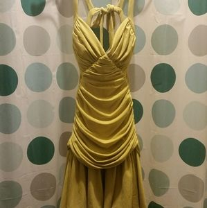 Arden B Yellow Formal Prom Dress Size S